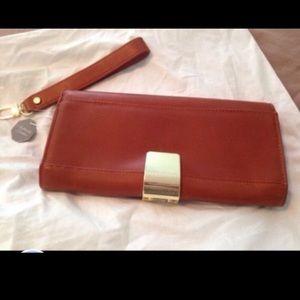 Zara genuine leather clutch